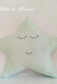 Cojín estrella verde menta