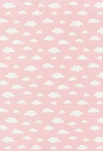 Tela de nubes rosa