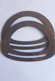 Asas de madera ovaladas