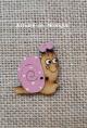 Botón  Caracol (rosa)