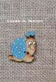 Botón  Caracol (azul)
