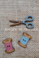 Boton  Pack Costura azul-rosa